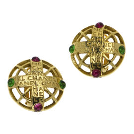 Chanel Gripoix Byzantine Earrings