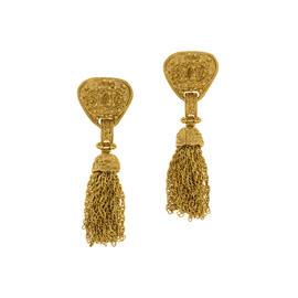 Chanel Logo Tassel Earrings