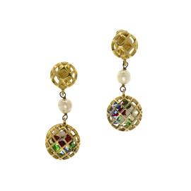 Chanel Gold Gripoix Earrings