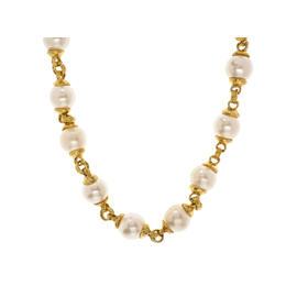 Chanel Gold Faux Pearl Choker
