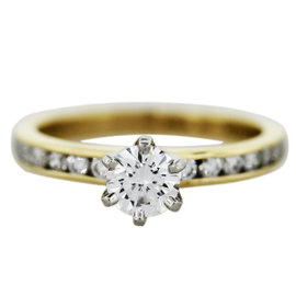 Tiffany & Co. 18K Yellow Gold 0.38ct Diamond Engagement Ring