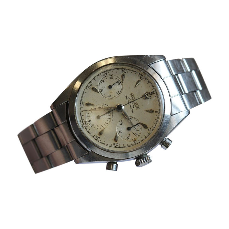 "Image of ""Rolex Mens Stainless Steel 6234 Pre Daytona Anti Magnetic Watch"""