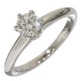 Tiffany & Co. Platinum Solitaire 0.32 Ct Diamond Ring Size 3.25
