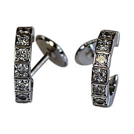 Cartier 18K White Gold & Diamond Laniere Earrings