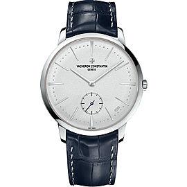 Vacheron Constantin Patrimony 1110U/000P-B306 Platinum & Leather with Silver Dial 42mm Mens Watch