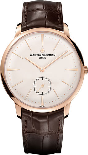 "Image of ""Vacheron Constantin 18K Rose Gold & Leather with Silver Dial 42mm Mens"""