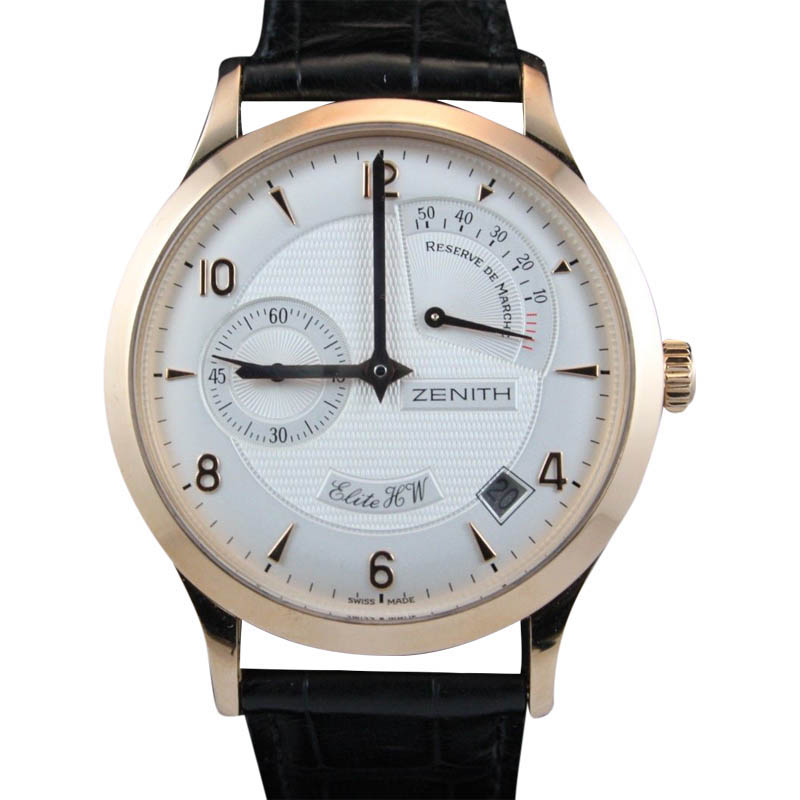 "Image of ""Zenith 17.1125.655/01 Elite Handwound Rose Gold Watch"""