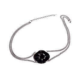 Dior Faux Black Onyx Belt Necklace
