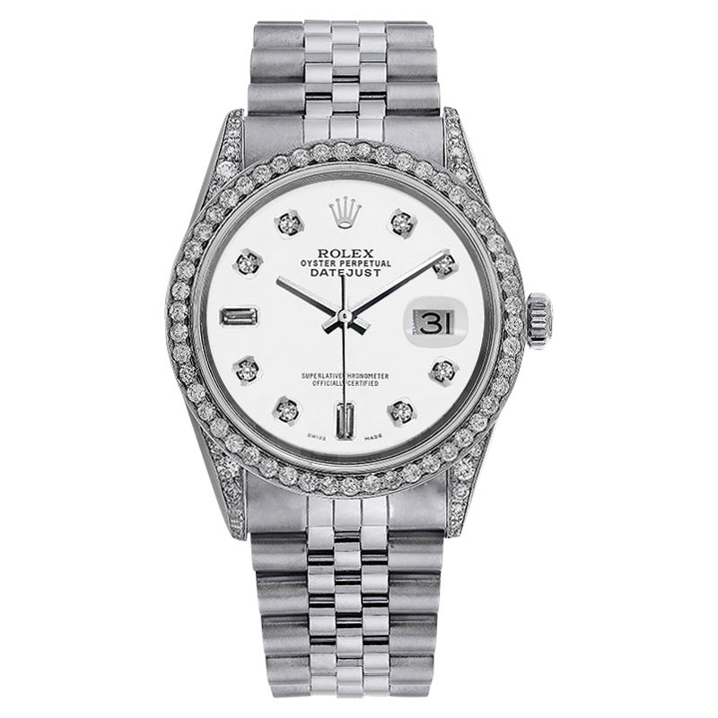 "Image of ""Rolex Datejust 36mm White Diamond Dial Stainless Steel Jubilee"""
