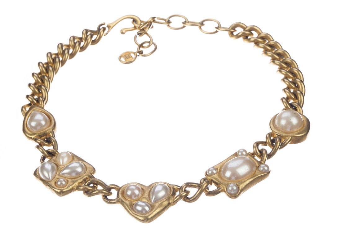"Image of ""Givenchy Faux Pearl Chain Necklace"""