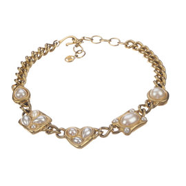Givenchy Faux Pearl Chain Necklace