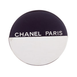 Chanel Black and White Pin Brooch