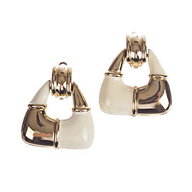 Givenchy Two Tone Dangle Hoop Earrings