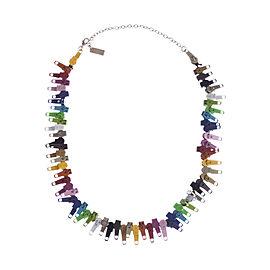 Marc Jacobs Multicolor Zipper Necklace