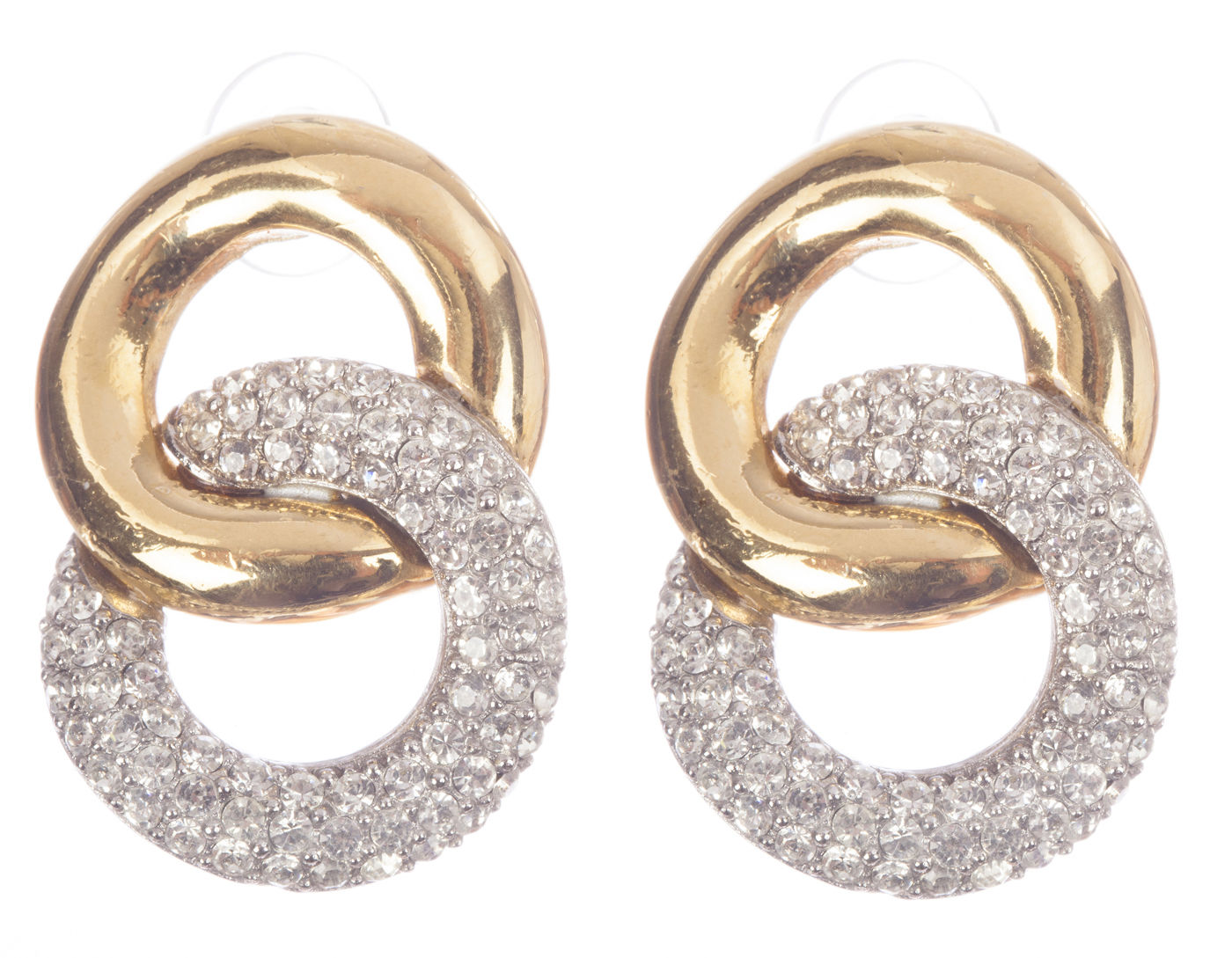 "Image of ""Givenchy Double Hoop Rhinestone Earrings"""