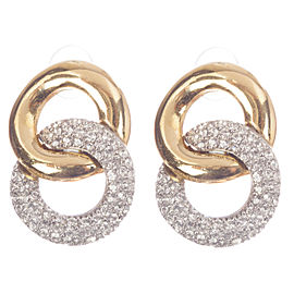 Givenchy Double Hoop Rhinestone Earrings
