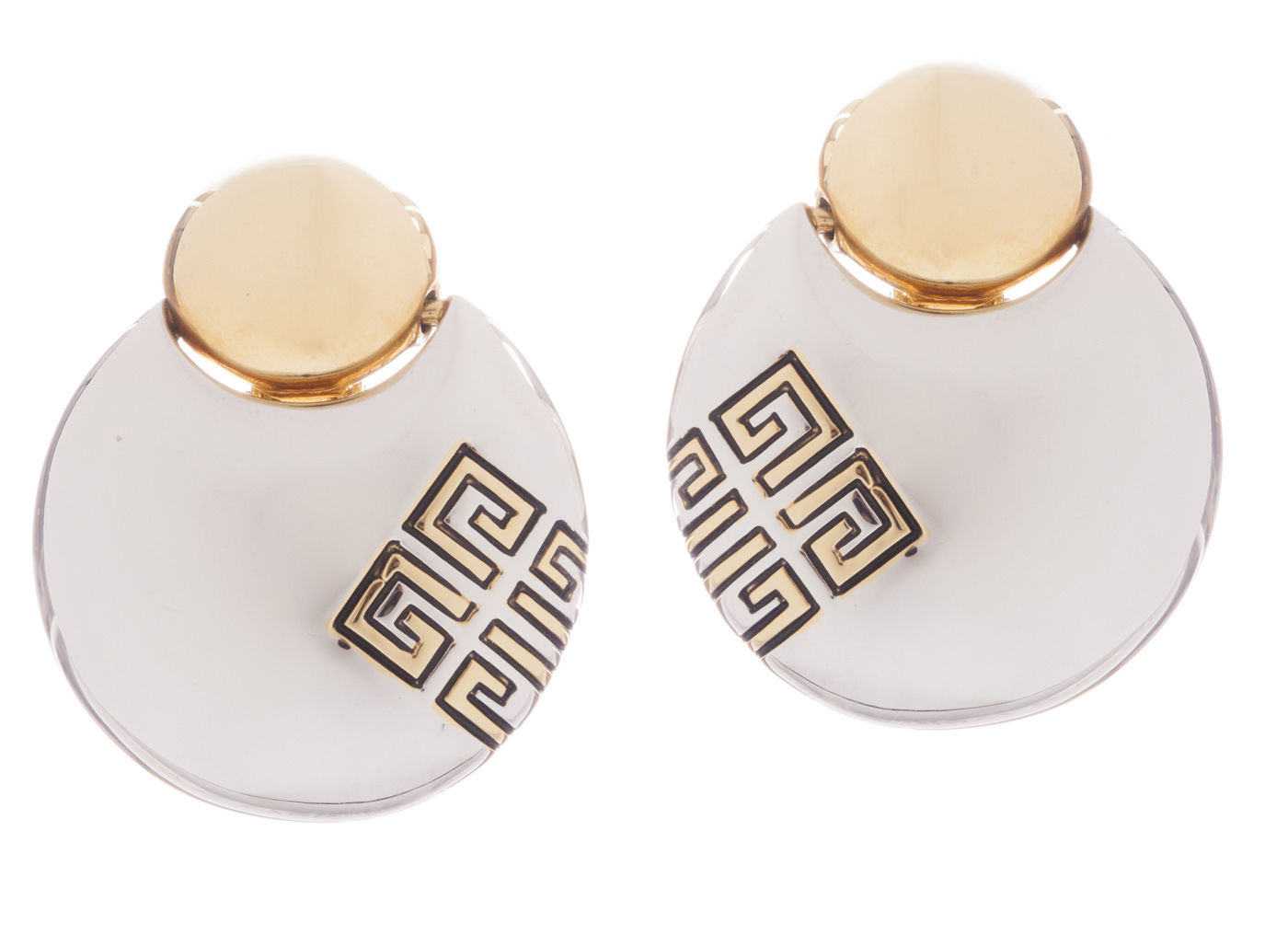 """Image of """"Givenchy Two Tone Dangle Earrings"""""""