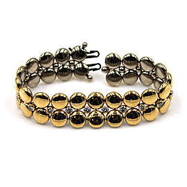 Cartier 18K Two Tone Gold Diamond Bracelet Size 7