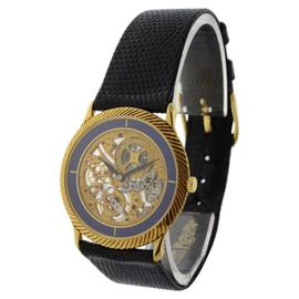 Audemars Piguet Vintage Skeleton 18K Gold & Lapis Mens Watch