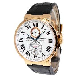 Ulysse Nardin Maxi Marine 266-67 Chronometer 18K Rose Gold Mens Watch