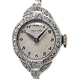 Hamilton Vintage Platinum and Diamond Womens Watch