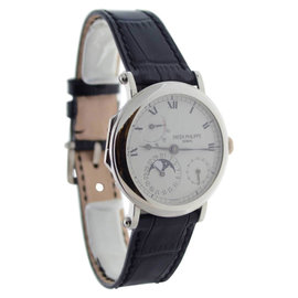 Patek Philippe 5054G Complications 18K White Gold Power Reserve Moon Mens Watch