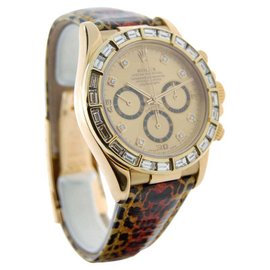Rolex Daytona 16518 18K Yellow Gold w/ Diamonds 40mm Watch