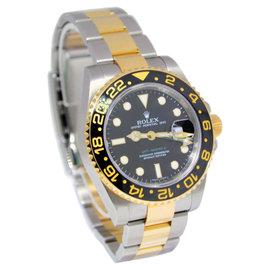 Rolex GMT-Master II 18K Gold Steel & Ceramic Mens Watch