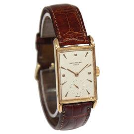 Patek Philippe 18K Rose Gold Manual Windup Mens Vintage Watch