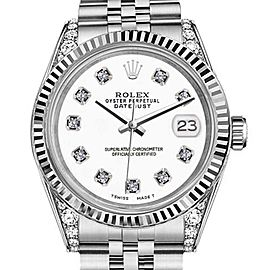 Rolex Datejust White Color Dial with Diamonds 36mm Watch