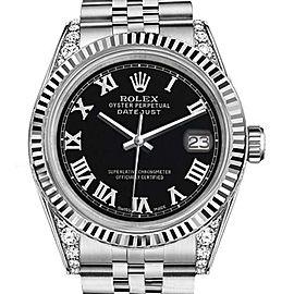 Rolex Datejust Black Color Roman Numeral Dial 36mm Men's Watch