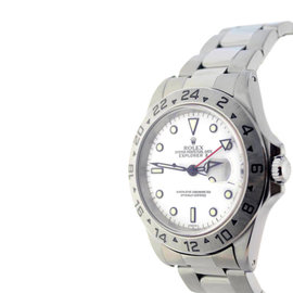 Rolex Explorer II 16570 Stainless Steel White Dial Automatic Mens Watch