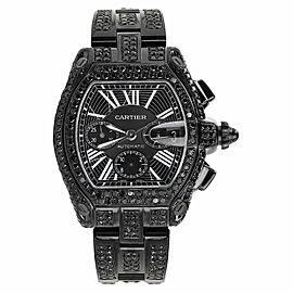 Cartier Roadster XL W62020X6 Black Diamond Dial Stainless Steel Watch