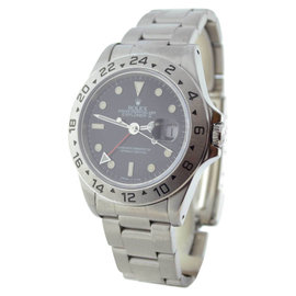 Rolex Explorer II 16570 T Stainless Steel Black Dial Mens Watch