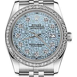 Rolex Datejust Jubilee Ice Blue Color Dial with Diamond Accent 26mm Watch