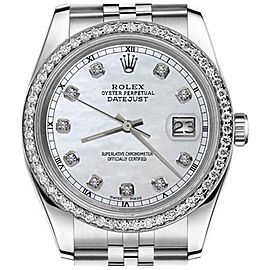 Rolex Datejust White Mop Mother Of Pearl Diamond Dial 31mm Watch
