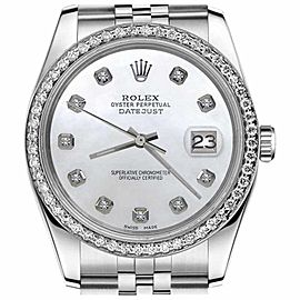 Rolex Datejust White MOP Mother of Pearl Dial with Diamond 31mm Watch