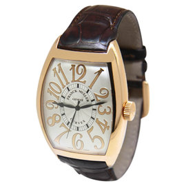 Franck Muller 18K Rose Gold Cintree Curvex Relief Automatic Watch