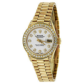 Rolex Lady Datejust Presidential 18K Yellow Gold and Diamond Watch