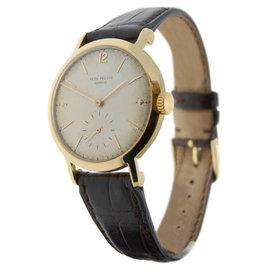 Patek Philippe Calatrava 2458 18K Gold Vintage Mens 37mm Watch