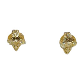 Judith Ripka 18K Yellow Gold Crystal & Diamond Earrings