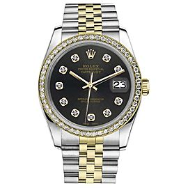 Rolex Datejust 2 Tone Chocolate Dial with Diamond Accent 26mm Watch