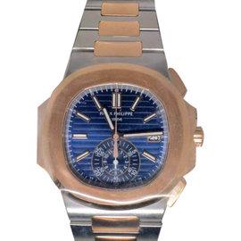 Patek Philippe Nautilus 5980 Chronograph Steel & 18K Rose Gold Watch