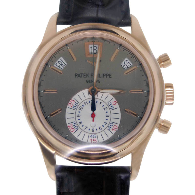 Patek Philippe 5960R 18K Rose Gold Automatic Chronograph Mens Watch
