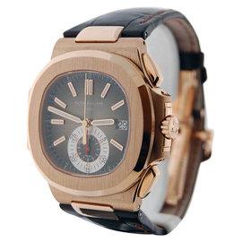 Patek Philippe Nautilus Chronograph 5980R 18K Rose Gold Mens Watch