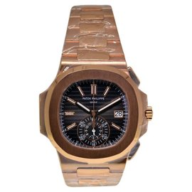 Patek Philippe Nautilus Chronograph 5980/1R 18K Rose Gold Mens Watch