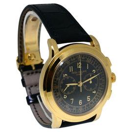 Patek Philippe 5070J 5070 18K Yellow Gold Chronograph Mens Watch
