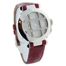 Cartier Pasha 18K White Gold & Diamond Automatic 32mm Watch