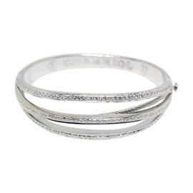 Charriol Diamond & 18K White Gold Bracelet