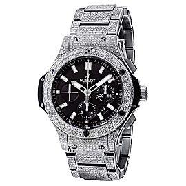 Hublot Big Bang 44 Full Iced Diamonds Mens Watch